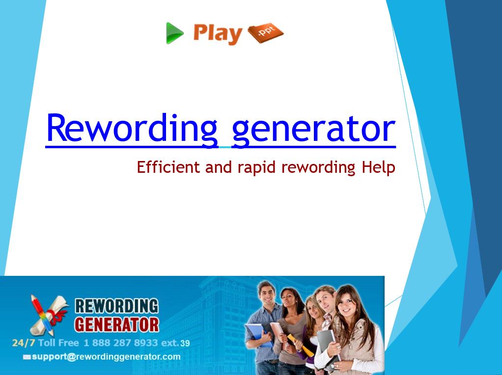 rewording generator ppt