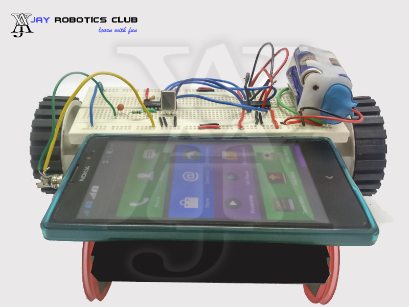 mobile controlled robot without microcontroller ppt